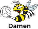 Wilde Wespen Damen Volleyball-Mannschaft